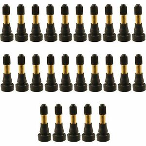 25pcs Tr 600hp Snap In Tire Valve Stems High Pressure 1 1 4 Kit Universal