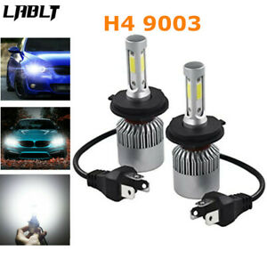 H4 9003 Led Headlight Kit 20000lm 100w High Low Beam Bulbs 6000k White New