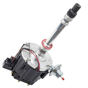 Black Ignition Distributor Complete For Chevy Sbc 65k Hei 283 305 327 350 400