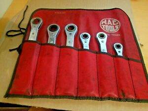 Mac Tools Metric 6 12 Point Double Box End Ratcheting Wrench Set 20 9mm Set 6pcs