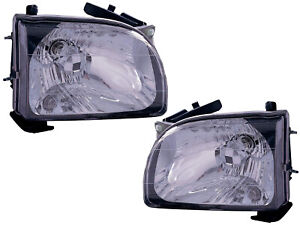 Headlight Replacement Set For 2001 2004 Tacoma Pickup Driver Passenger Pair