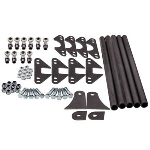 Weld On Parallel 4 Link Suspension Kit Hot Rod Rat Truck 5 Bars Rear