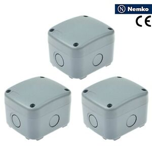 3 Pack Ip66 Waterproof Junction Box Waterproof Case 86 74 62mm Weatherproof New