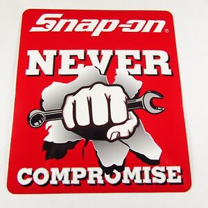 Snap On Tools Sticker Decal Never Compromise Tool Box Fridge Window
