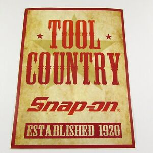 Snap On Tools Sticker Decal Tool Country Established 1920 Tool Box Fridge