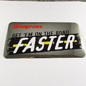 Snap On Tools Sticker Decal Get Em On The Road Faster Tool Box Fridge Window