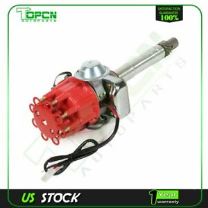 Ignition Distributor Ready To Run Red Cap Fits Chevy V8 Sbc Bbc 305 327 350 454