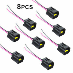Set Of 8 Pcs Ignition Coil Connector Modular Pigtail Plug For Ford Mazda Mercury
