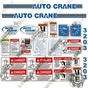 Auto Crane 3203prx Decal Kit Crane Truck Replacement Stickers 3m 7 year Vinyl