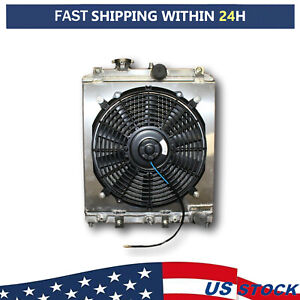 All Aluminum Radiator With Shroud And Fan Kit For 1992 2000 Honda Civic At