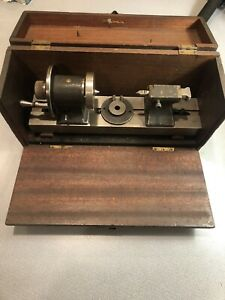 Antique Id Od Grinder Lathe Tool Post Chuck Grinding Attachment Dumore Mill