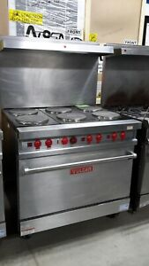 Used 36 Vulcan E36l 6 burner Electric Range With Standard Oven
