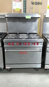 Used 36 Vulcan E36l 6 burner Electric Range With Standard Oven 2 Burners Do