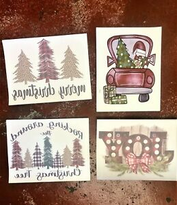 Sublimation Transfer Christmas Design Lot Of 17 Heat Transfers 4 Holiday Designs