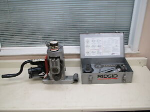 Ridgid 918 Hydraulic Pipe Roll Groover 2 12 For 300 Pipe Threader Used 2
