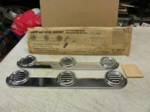 Vintage Nos Accessory Porthole Exhaust Louvers Lowrider Bomb Chevrolet Ford