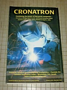 Cronatron Maintenance Welding Guide Book Solutions To Everyday Problems Preowned