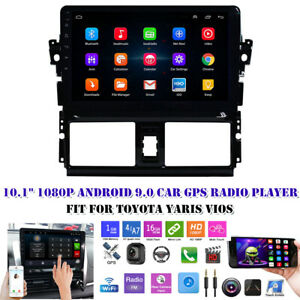 For Toyota Yaris Vios 2014 16 10 1 1080p Android 9 0 Wifi Car Gps Radio Player