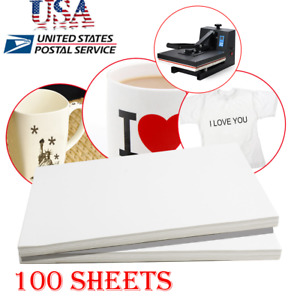 100sheets A4 Dye Sublimation Heat Transfer Paper For Polyester Cotton T shirt A