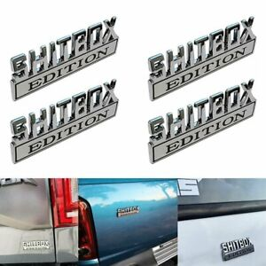 4x Shitbox Edition Emblem Decal Badge Stickers For Gm Gmc Chevy Car Truck Decor