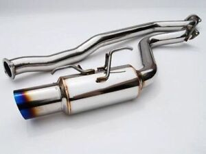 Invidia N1 Racing Cat Back Exhaust Titanium Tip For 02 07 Subaru Impreza Wrx Sti
