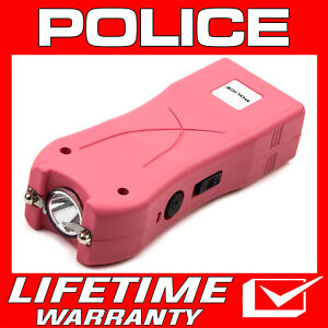 Police Pink Mini Stun Gun 395 500 Bv Rechargeable Led Flashlight