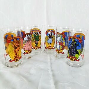 1989 Wizard Of Oz Coca Cola 50TH Anniversary Set Of 6 Glasses New Never Used