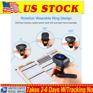 2 4g Wireless Bluetooth Usb Wired Finger 1d Barcode Scanner For Iphone Windows