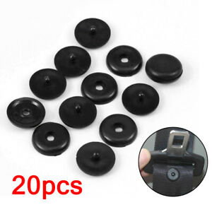 20 Pairs Universal Seat Belt Buckle Buttons Holders Studs Retainer Stopper Rest