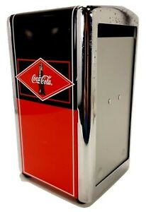 Vintage Coca-Cola Napkin Dispenser Red & Black Diner Style Retro Napkin Holder