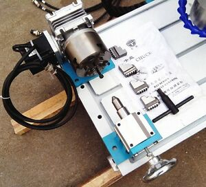 Cnc Router Rotary Axis A 4th axis 4 jaw 100mm Tailstock steel Frame 20 1