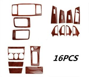 16pcs Peach Wood Grain Car Interior Kit Cover Trim For Toyota Corolla 2007 2012