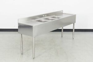 Used Krowne 18 63c Underbar Sink W left Right Drainboards 568437