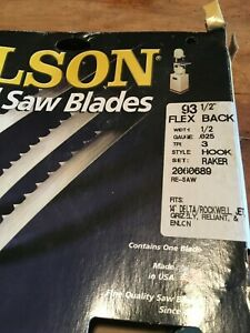 Olson 93 1 2 X 1 2 X 3 Tpi Flex Back Band Saw Blade New For 14