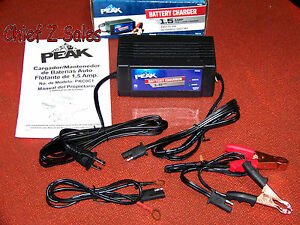New Peak 12v 1 5amp Trickle Automatic Battery Linear Charger Automotive Car