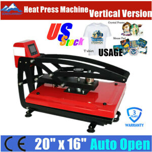 Us Stock 110v 16 X 20 Auto Open T shirt Heat Press Transfer Printing Machine