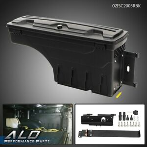 For 2007 2020 Toyota Tundra Rear Right Side Truck Bed Storage Box Toolbox Black