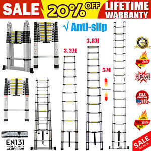 Telescopic Aluminum Alloy Extended Portable Folding Step Ladder 3 2m 3 8m 5m