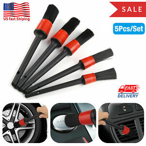 5pcs set Car Detail Brush Rubber Wire Hair Auto Detailing Cleaning Wheel Brushes