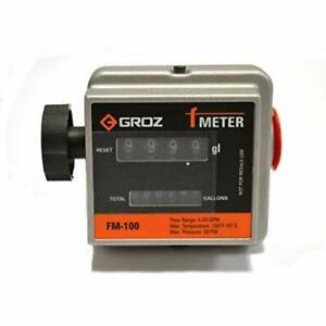 Groz 1 inch Npt Mechanical Fuel Meter Gallons 3 port Design Diesel Gaso