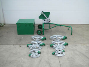 Greenlee 1818 Mechanical Ratchet Pipe Bender 1 2 2 W 6 Shoes Storage Box