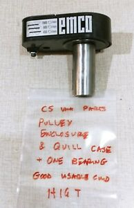 Emco Compact 5 Lathe Vma Parts Pulley Cover Quill Spindle Bearing Case H16t