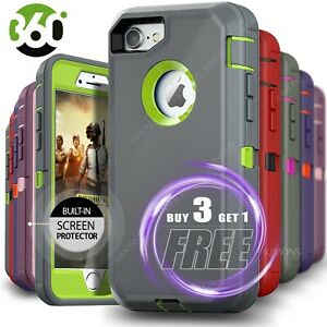 iPhone 13 Pro Max 12 6 7 8 11 Plus XS XR X Shockproof Case Rugged Hard Cover $9.75