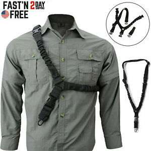 Tactical One Single Point Sling Strap Bungee Rifle Gun Sling with QD Buckle NEW $9.59