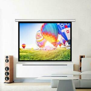 Hd 100 4 3 Projection Projector Screen Manual Pull Down 160 Viewing Angle