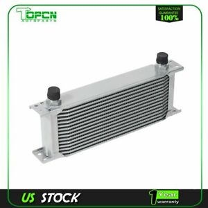 Silver 15 Row 10an Coolant Transmission Engine Oil Cooler Extra Radiator Kit