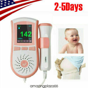 Color Fetal Dopler Prenatal Baby Heart Beat Monitor Digital curve Display Fda ce