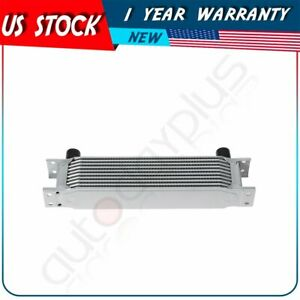 Silver Universal Engine 10 Row An 10an Aluminum Transmission Oil Cooler Kit