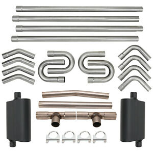 Universal 2 5 Custom Exhaust Tubing Mandrel Bend Pipe Straight U Bend Kit