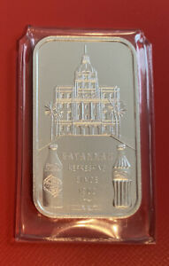 Coca-Cola 75th Anniversary *SAVANNAH  GA* .999 Silver Bar